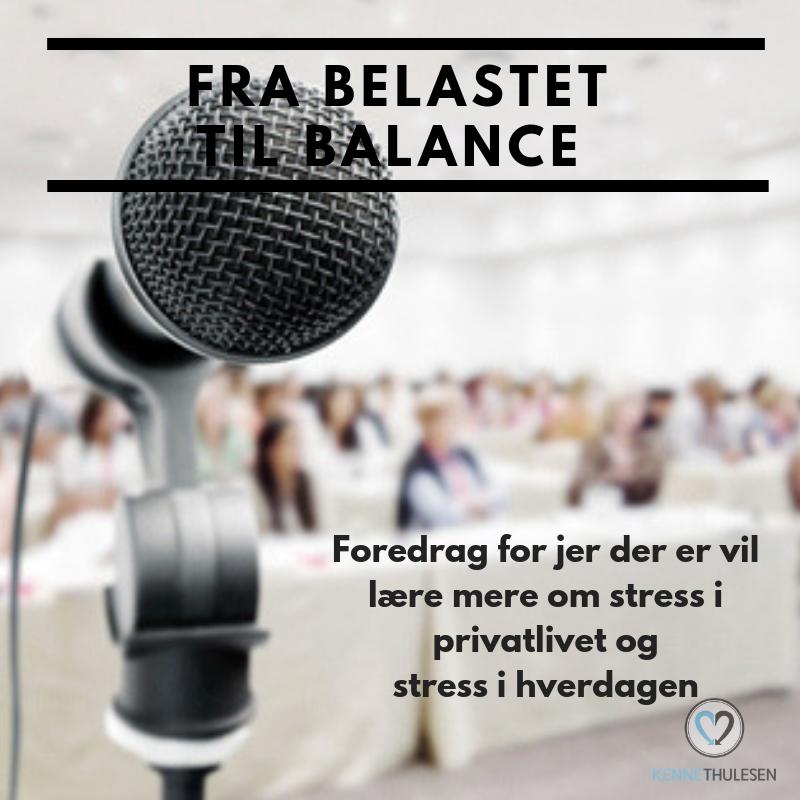 Foredraget fra belastet til balance